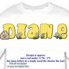 T-shirt, Your NAME in HEDGEHOG, smell the daisies - (Adult 4xLg - 5xLg)