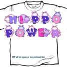 T-shirt Your Name in PURPLE HIPPOS, Hippo Power - (Adult 3xlg)