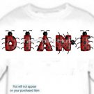 T-shirt, Your Name in LADYBUGS, lady bugs, #1 - (youth & Adult Sm - xLg)