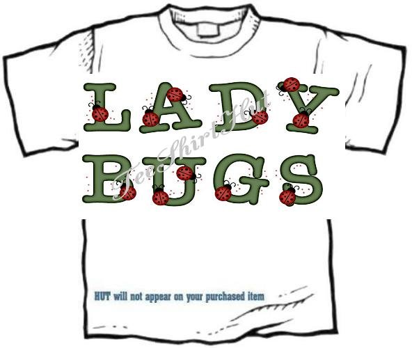 T-shirt, Your Name in LADYBUGS, lady bugs, #2 - (Adult 4xLg - 5xLg)