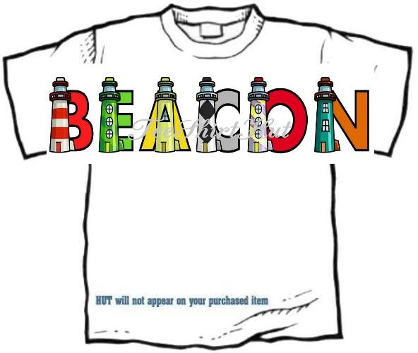 T-Shirt, Your Name in LIGHTHOUSES, see the light? - (Adult 4xLg - 5xLg)