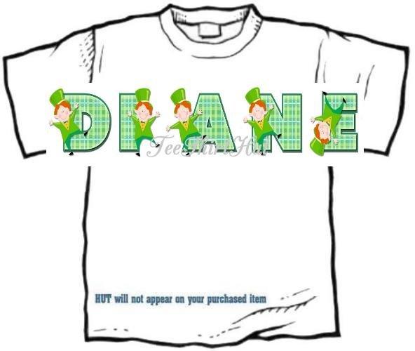 T-shirt, Your NAME in LUCKY IRISHMEN, leprechaun - (Adult 4xLg - 5xLg)
