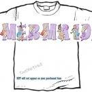 T-shirt, Your Name in MERMAIDS, sea maids #1 - (adult 3xlg)