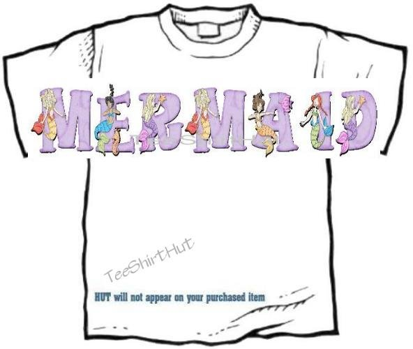 T-shirt, Your Name in MERMAIDS, sea maids #1 - (adult 4xlg - 5xlg)