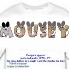 T-shirt, Feelin MOUSEY? your Name in MOUSE, big ears - (adult Xxlg)