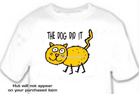 T-shirt, The Dog Did It - (adult 3xlg)