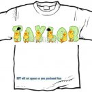 T-shirt YOUR NAME in DUCKS, rainy days - (adult Xxlg)