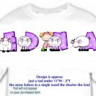 T-shirt , Counting SHEEP, baaaaaa, - (Adult 4xLg - 5xLg)