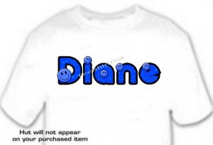 T-shirt , YOUR NAME in SMILEY FACES, - (adult 3xlg)