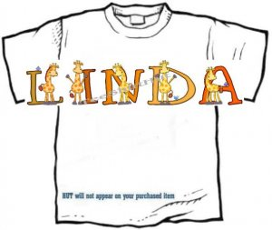 T-shirt, Your Name in GIRAFFE, long neck - (adult 3xlg)
