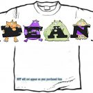 T-shirt, Your Name in the BOOGIE MONSTERS - (adult 3xlg)