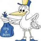 IT'S a BOY, Stork, -- MATERNITY shirt, (2xLarge or 3xLarge)