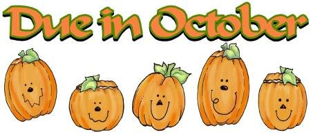 DUE in OCTOBER, pumpkins -- MATERNITY shirt, (2xLarge or 3xLarge)