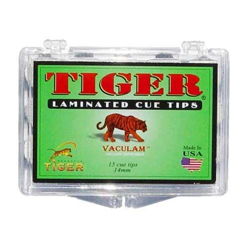 Tiger Laminated Tips, Medium, Box of 15, 14mm