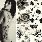 Temporary tattoos large black owl arm fake transfer tattoo stickers hot sexy