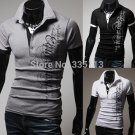 New Polo Shirt Luxury Casual Slim Fit Short Sleeve Letter Printing Top Quality Design Tee Tops
