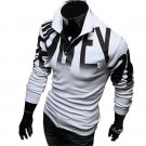 Fashion Design Personalized Slim Tops Letters Printing Long-sleeved Casual POLO Shirts