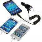 Dual USB Port Car Charger Adapter Micro USB For iPhone 4 5 for iPad for Samsung Galaxy S4 S3