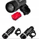 Bike Bicycle Head Light+ Safety Rear Flashlight Lamp Waterproof 2 IN 1 LED Light