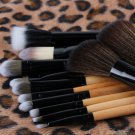 Professional Makeup kits 12 PCs Brush Cosmetic Facial Make Up Set tools With Leopard Bag