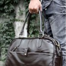 Orignal Leather Men Women Leather Holdall Travel Gym Duffle Sports Bag