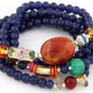 Multilayer Rosary Seed Glass Wood Bead Bracelet