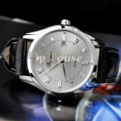 Mens quartz Stainless Steel precision Business waterproof Watches