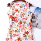 Women Fashion Sleeve Blouses Flower Printed Top
