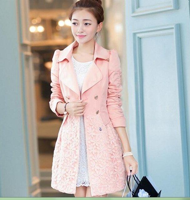 Women Elegant Warm Slim Trench Full Sleeve Coat Blazer