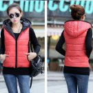 women casual cotton hooded down vest vest jacket