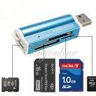 BLUE MATE USB 2.0 FLASH DRIVE MEMORY+CARD READER STICK