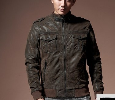Geniune Cow Hide made Leather Outwear Jacket