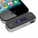 Wireless 3.5mm Car LCD Display FM Transmitter Cable iPhone 4S 5S ipod Touch 1VHX