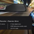 2.7 Inch HD Dash Cam Video Recorder Rearview Mirror Car DVR Camera Night Vision Motion