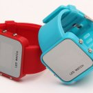 Creative Mirror Digital Watch 11 Colors LED Student Men&Ladies Touch Screen