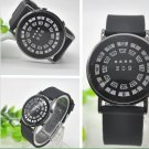 Black Leather Strap Men Hand Watches And Wristwatches