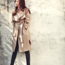 Women Casual Trench Coat long Outerwear loose clothe Jacket