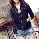 Women Lace Jackets Hollow Out Jacket Women Outwear Coat Large Size