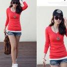 Women Long Sleeve Blouses & Shirts Casual V-neck Tops