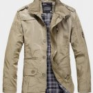 Men Casual Overcoat Jacket Outwear Slim Jacket/ ALL SIZES AVAILABLE