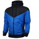 Men Zipper Outdoor Sports jackets hooded Outwear jacket