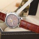 Men Leather Strap Wrist Watches