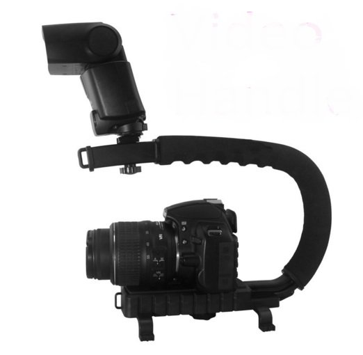 C Shape flash Bracket holder Video Handle Handheld Stabilizer Grip for DSLR SLR Camera