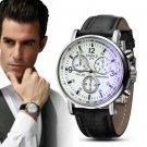 2015 Leather Design Men Wrist hand Watches