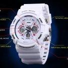 0966 LED Sports Watch Dual Time +Luminous Stopwatch Alarm Waterproof Watch
