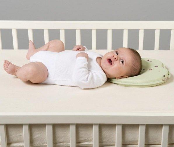 Baby Memory Foam Pillow Prevent Flat Head Infant Pillows Support Newborn