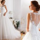 Elegant Chiffon+Maxi Design Wedding Dresses Custom-Made Bridal Gown Vestido de/Size available