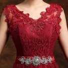 Women Long Beautiful V neck Formal Wine Design Dress/Size Available
