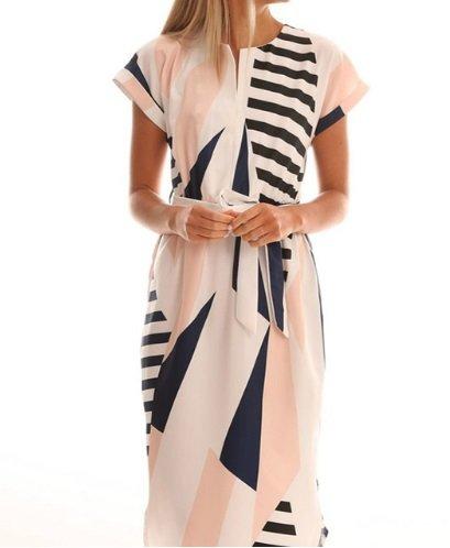free ship Women Geometric Irregular Dresses 2018/Medium/Large