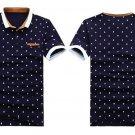 free ship Shirt Men Cotton Fashion Skull Dots Print/Medium/Large/XL Sizes